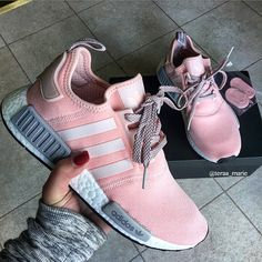 Adidas NMD Pink #adidasnmd tennis shoes boost