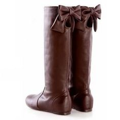 YESSTYLE Canada: Smoothie- Bow-Accent Cutout Tall Boots (Brown - 40) - Free Express Shipping to Canada on orders over CA$150