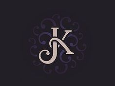 I really like this lettermark because the K wraps around the J, and they both share the same straight line.