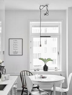 All white home