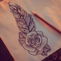 Instead of the feather I want the leaves of the rose to be detailed with lace