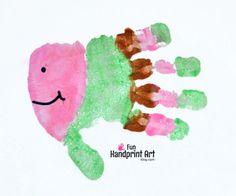 Fun Fish Handprint Keepsake - Kids Craft