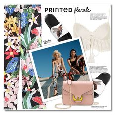 """printed florals pants"" by svijetlana ❤ liked on Polyvore featuring Topshop, Zara TRF, printpants and shein"