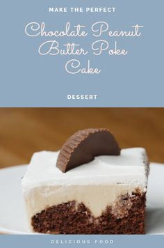 Ingredients  ½ box chocolate cake mix, prepared according to instructions 8 oz cream cheese (225 g), softened 1 cup peanut butter (240 g) 14 oz sweetened condensed milk (305 mL), 1 can 1 cup milk (240 mL) 8 oz whipped topping (225 g) peanut butter cup, for garnish