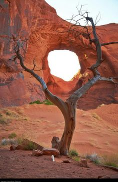 Sacred Navajo eye in the desert of Arizona, Monument Valley Navajo Tribal Park; photo by Moyan Brenn I've stood square in the middle of that hole what a awesome sight to behold Monument Valley, All Nature, Amazing Nature, Beautiful World, Beautiful Places, Landscape Photography, Nature Photography, Photography Tips, Travel Photography