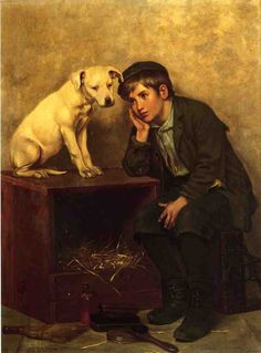 Shoe Shine Boy with his Dog by John George Brown