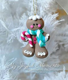 Christmas gingerbread ornament on We Heart It