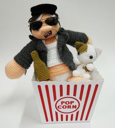 Mr. Plinkett Talking Doll!!! Comes with a cat to eat! In a popcorn bucket!!!