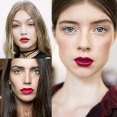 Punchy Pouts - Classic red lips never go out of style, but next year is all about berry and hot pink. Whether you prefer a matte finish or a gloss, grab the brightest shade you can find.
