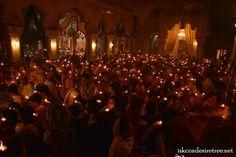 Offering Lamps Kartik month ISKCON Vrindavan