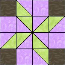 Block of Day for December 02, 2016 - Windmill-strip-piecing-The pattern may be downloaded until: Saturday, December 31, 2016.