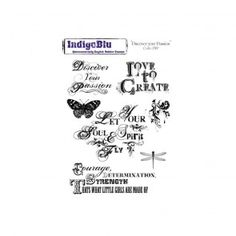 Cling Mounted Rubber Stamp Discover your Passion
