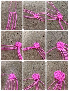 images about Micro Macramé Tutoriel Technique on . Macrame Earrings, Macrame Jewelry, Macrame Bracelets, Micro Macramé, Macrame Design, Macrame Projects, Macrame Patterns, Macrame Knots, Weaving