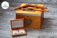 Komplet pudełek ślubnych-Limba złocista Convenience Store, Packing, Handmade, Wedding, Convinience Store, Bag Packaging, Valentines Day Weddings, Hand Made, Weddings