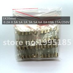50pcs/set 10Values Fast Quick Blow Glass Tube Fuses Assortment Kit 5x20mm 0.2A 0.5A 1A 2A 3A 5A 6A 8A 10A 15A/250V