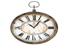 Paris Oval Clock on OneKingsLane.com