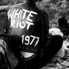 Rock n Roll shot and the year I was born #1977          Early Clash jacket