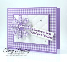 Gingham Gala Daisy - Stamping With Tracy Butterfly Cards, Flower Cards, Poinsettia Cards, Ppr, Card Kit, Paper Cards, Creative Cards, Cool Cards, Greeting Cards Handmade