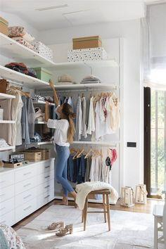 Walk in Closet Bedroom Closet Design, Home Decor Bedroom, Modern Closet, Build A Closet, Pretty Bedroom, Home And Deco, My Room, Room Inspiration, Walking Closet
