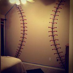 K'man's bedroom. The best baseball wall yet