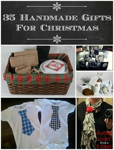 35 Handmade Gifts for Christmas. Great for any occasion, but especially good for the holiday season. Gifts for everyone from the little ones to grandparents. From LifeAfterLaundry.com