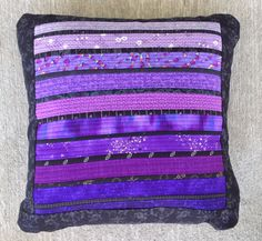 Purple quilted pillow. Overstuffed pillow. For the sofa. Modern quilt. Royal purple accent. Throw pillow. For the home. Decorative pillow.