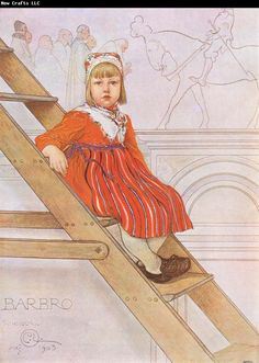 "Carl Larsson ""Barbro""  From Andras Barn 1913"