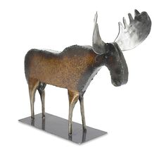 Monte the Moose by Ben Gatski and Kate Gatski: Metal Sculpture available at www.artfulhome.com