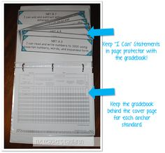 how to organize and display your I Can statements and gradebook!