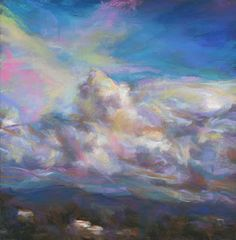 "SUSAN'S ...PLAYING AGAIN!: HEAVY BURDEN - 8.75"" x 8.75"" pastel landscape by S..."
