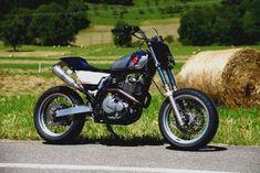 Suzuki 650 DR Tracker Flattrack scrambler - DR650 650DR - EGERIE MOTO