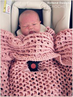 CROCHET PATTERN Reversible Car Seat Cover - Pattern PDF
