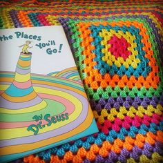 Crochet Dr. Seuss Baby Blanket. Oh, the Places You'll Go! Hey, I found this really awesome Etsy listing at https://www.etsy.com/listing/225604987/dr-seuss-oh-the-places-youll-go-inspired