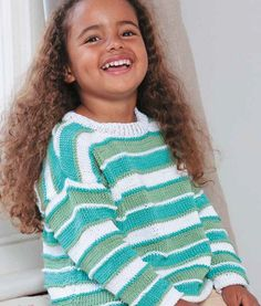 Striped Sweater in Patons 100% Cotton DK: http://www.mcadirect.com/shop/patons-100-cotton-dk-100g-p-108.html