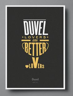 Duvel Lovers Are Better Lovers