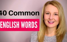40 Common English Words to improve and build you Vocabulary. Watch the video lesson to learn how to use the 40 common English words when speaking in English English Grammar Games, Learn English Grammar, Learn English Words, English Language Learners, English Phrases, English Vocabulary, Teaching English, English Learning Spoken, English Speaking Skills