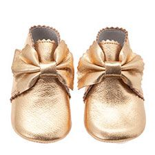 LiLi shoes for baby shoes gold bow shoe