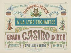 Modèles d'enseignes (Gallica BNF) | on the BNF : gallica.bnf… | Flickr La Lyre, Pretty Birthday Cakes, Book Design Layout, Bnf, Vintage Ephemera, Art Nouveau, Cards, Painting, Printables