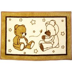 Amazon.com: Dreamland Teddy Bear Nursery Rug: Baby