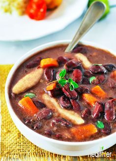 Jamaican stew peas with dumplings (spinners),kidney beans simmered with onions, garlic, ginger, thyme, coconut milk. This is so hearty and mouthwatering!