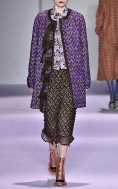 Panno Twill Tweed Ribbon Coat by MARCO DE VINCENZO for Preorder on Moda Operandi