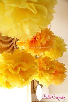 Handmade paper pom poms | Vanessa Iti | Flickr