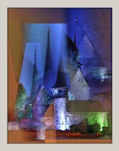 """""""Gelmeroda (B)"""" Hommage an Lyonel Feininger von P. Hoffmann (P.H.)"""
