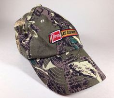 Les Schwab Tires Camo Baseball Hat Cap Advertising Promo Hunt Fish Camp Outdoors #LesSchwab
