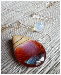 Silver Frenzy pendant necklace. Colorful by CutBranchCreations