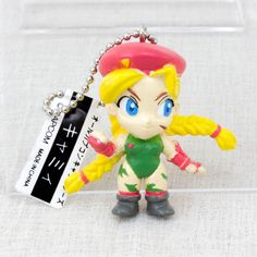 Street Fighter 2 CAMMY Capcom Characters Figure Key Chain JAPAN GAME