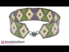 How to Create a Tapered End using Decreases in Peyote Stitch - YouTube