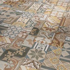 Parador Vinyl Fliese Trendtime-5.50 Ornamentic-colour-4V Tiles Texture, Color Tile, Lame, Bauhaus, Decoration, Budapest, Flooring, Quilts, Blanket