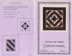 Bonnie+Jean+Rosenbaum+-+Little+Log+Cabin+Quilt+Pattern+LC401