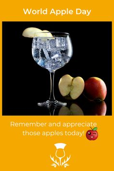 I think we all very much appreciate our apples in our Scottish Gin. Take a look at our Gincylopedia to see the huge choice of Gin poised waiting to be paired with an apple!
